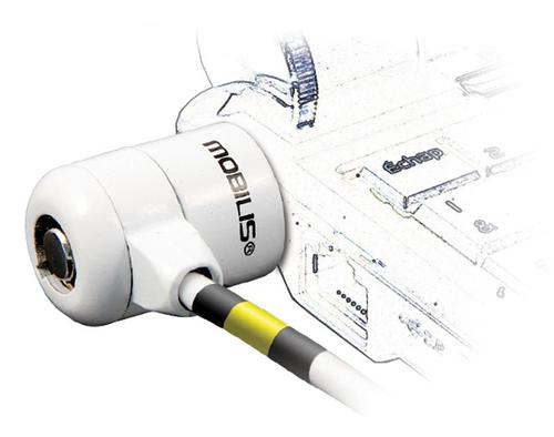 Mobilis Corporate Key. Couleur du produit: Blanc, Type de serrure: Clé, Matériel: Acier. Longueur de câble: 1,8 m, Diamètr