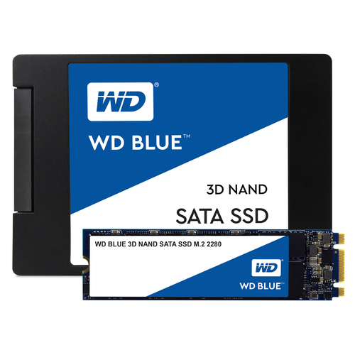 """WD Blue Solid State-Laufwerk - 2,5"""" Intern - 500 GB - SATA (SATA/600) - 560 MB/s Maximale Lesegeschwindigkeit - 5 Jahr(e)"""