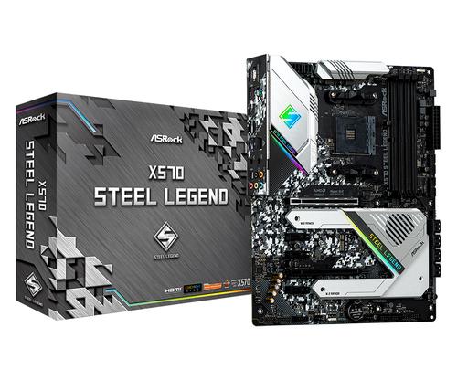 Asrock X570 Steel Legend. Fabricant de processeur: AMD, Socket de processeur (réceptable de processeur): Emplacement AM4,
