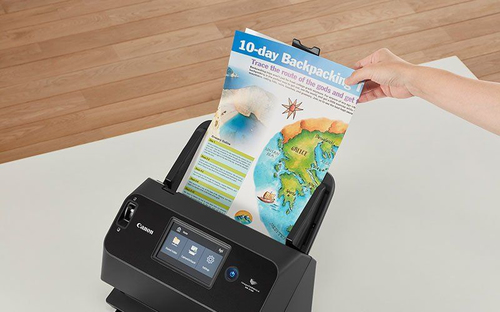 Canon imageFORMULA DR-S150. Maximum scan size: 216 x 356 mm, Optical scanning resolution: 600 x 600 DPI, ADF scan speed (b