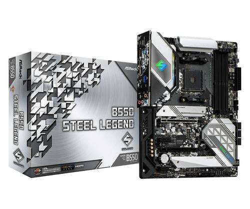 Asrock B550 Steel Legend. Fabricant de processeur: AMD, Socket de processeur (réceptable de processeur): Emplacement AM4,