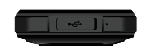 Cyrus CM17 HYBRID 8 GB Smartphone - 8,9 cm (3,5 Zoll) LCD HVGA 320 x 480 - Quad-Core 1,10 GHz - 1 GB RAM - Android 7.0 Nou