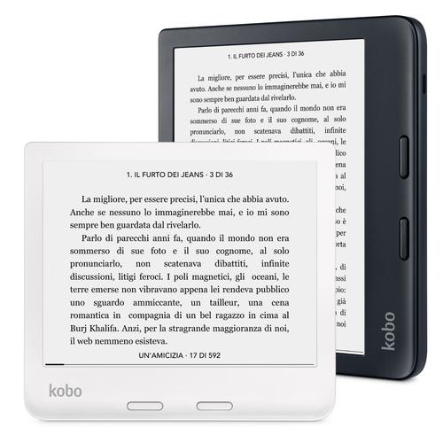 Rakuten Kobo Libra 2. Anzeigegrösse (Diagonal): 17,8 cm (7 Zoll), Technologie: E Ink Carta, Auflösung: 1264 x 1680 Pixel.